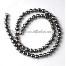 6MM Hematite loose round beads for jewelry